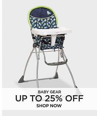 25% Off Highchairs, Bouncers, and Swings