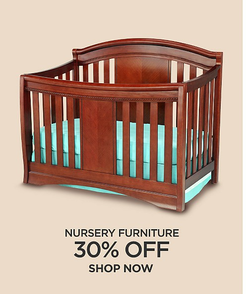 30% off nursery furniture. Shop now
