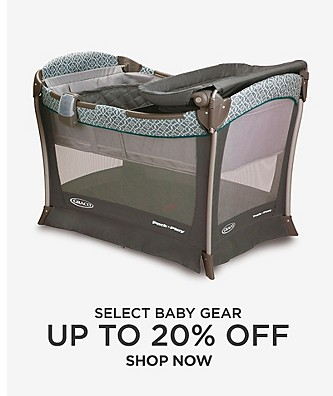 Up to 20% Off select baby gear