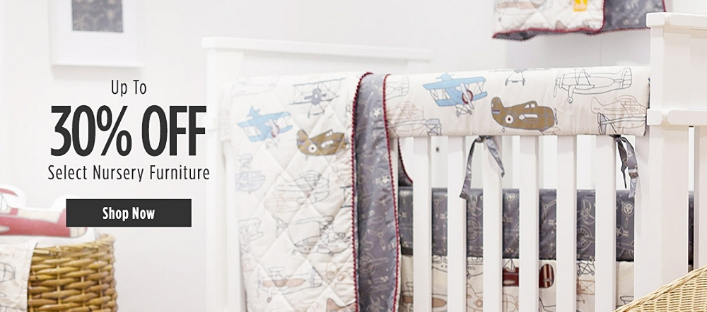 Up to 30% off Select Nursery Furniture. Shop now