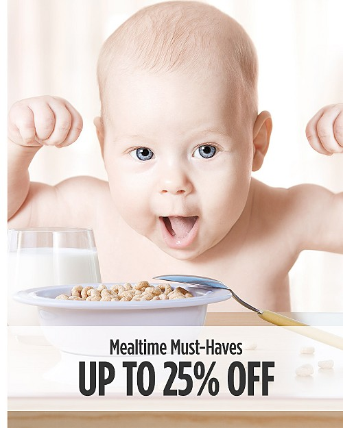 Up to 25% off Mealtime Must-Haves