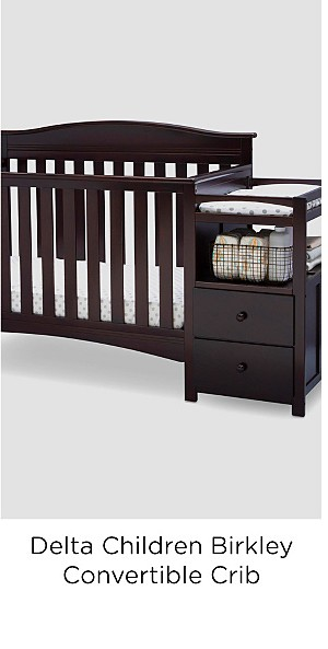 Delta Children Birkley Convertible Crib N Changer, Dark Chocolate