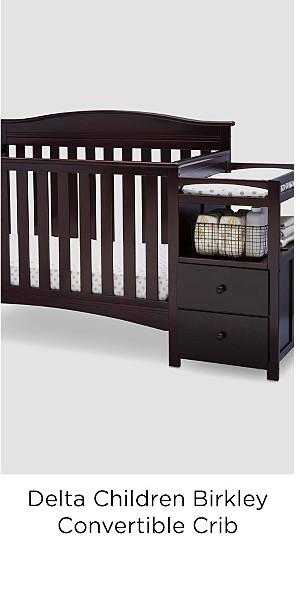 Delta Children Birkley Convertible Crib N Changer, Dark Chocolate