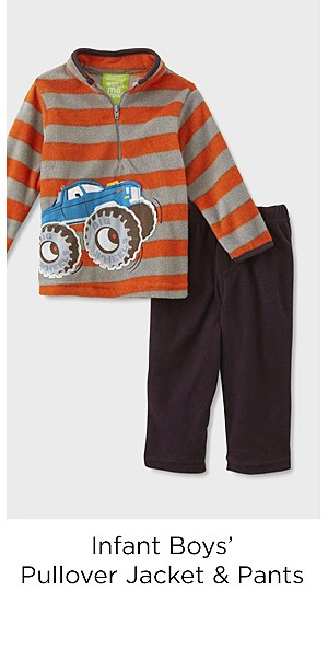 Children's Apparel Infant Boys' Pullover Jacket & Pants - Striped/Truck