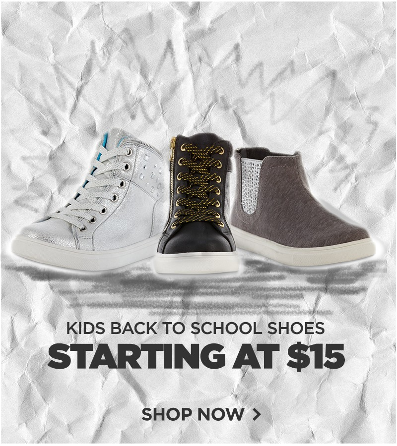 $15 Kids' Back to School Shoes