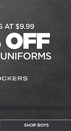 50% Off Dockers Uniforms starting at $9.99