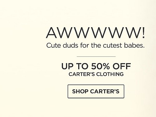 Up to 50% off Carter's clothing