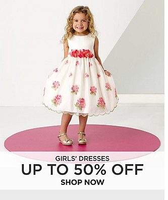 Girls' dresses up to 50% off