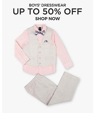 Boys' dresswear up to 50% off