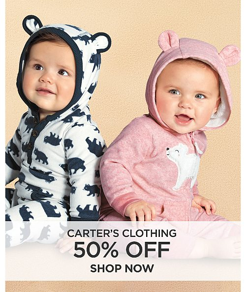 50% off Carter's & Clothing. Shop now
