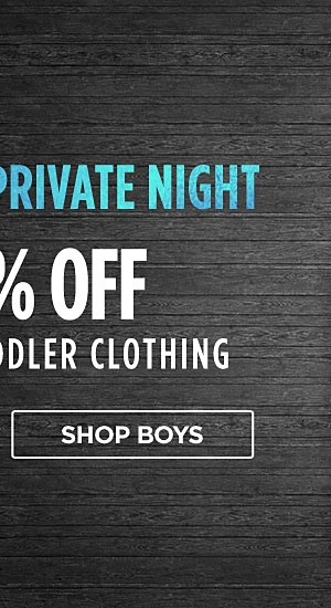 Members Private Event! 60% off baby & toddler clothing. Shop boys