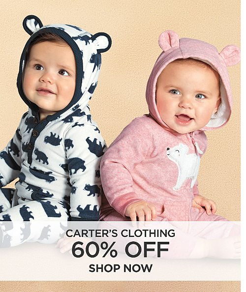 60% off Carter's clothing