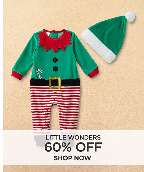 60% off Little Wonders. Shop now