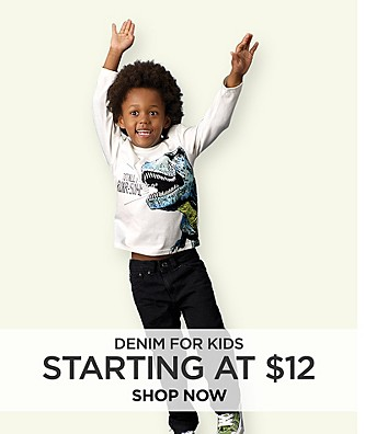 Denim for Kids starting at $12