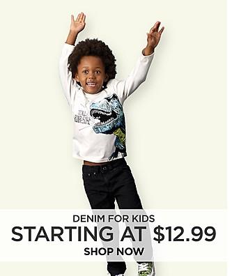 Denim for Kids starting at $12.99