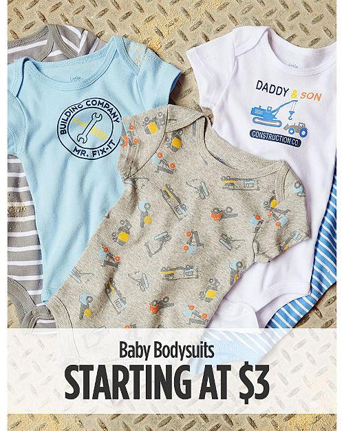 Baby Bodysuits Starting at $3
