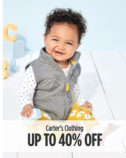 Up to 40% off Carter's Clothing