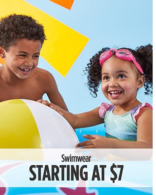 Swimwear starting at $7