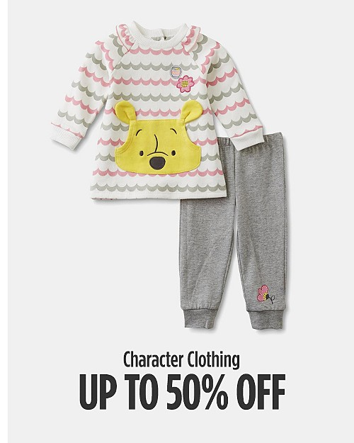 Up to 50% off Character Clothing. Shop now