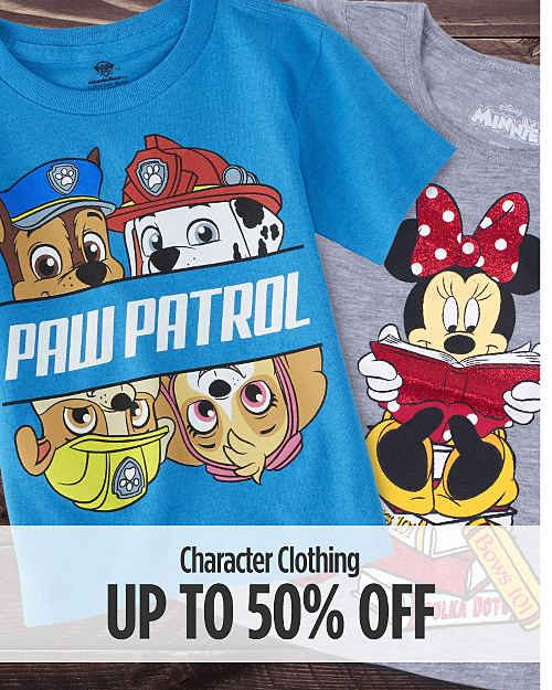 Up to 50% off Character Clothing