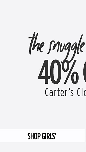 The Snuggle is Real! 40% Off Carter's Clothing. Shop Girls'