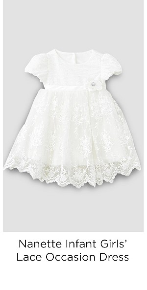 Nanette Infant Girls' Lace Occasion Dress & Diaper Cover