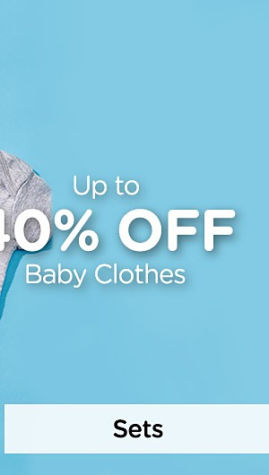 Up to 40% off Baby Clothes. Shop Sets