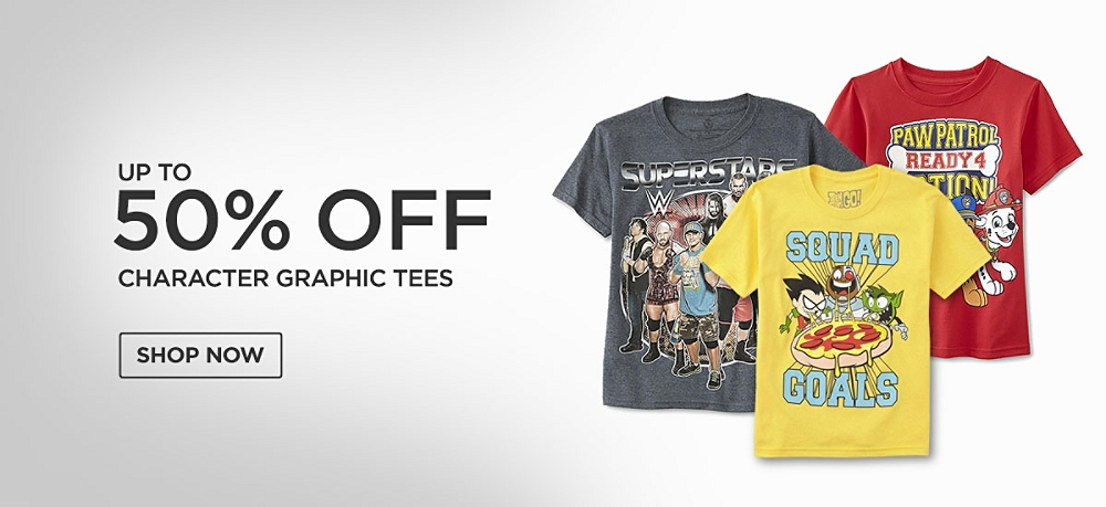 Up to 50% off Character Graphic tees