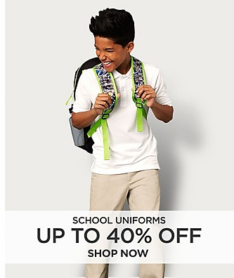 Up to 40% off School Uniforms