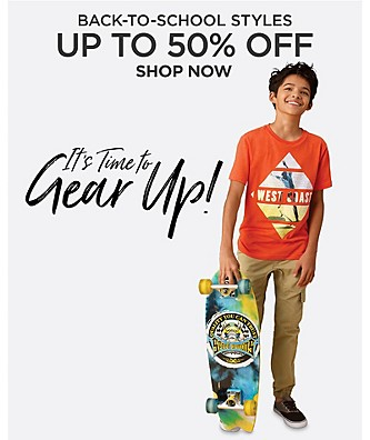 Back to School Styles Up to 50% Off. Shop Now