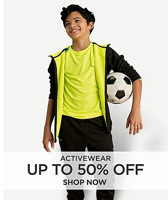 Up to 50% Off Activewear. Shop Now
