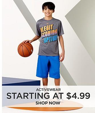 Activewear Starting at $4.99
