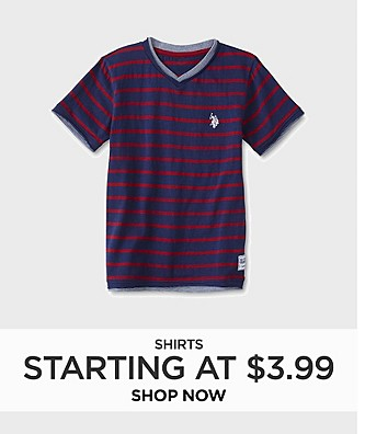 Shirts starting at $3.99