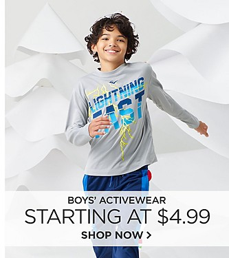 Activewear starting at $4.99