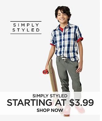 Starting at $3.99 Simply Styled