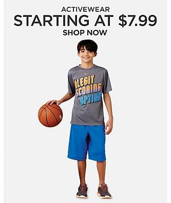 Starting at $7.99 activewear
