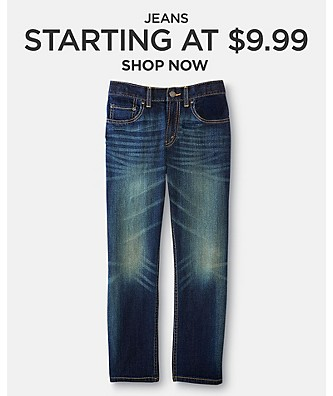 Jeans Starting at $9.99