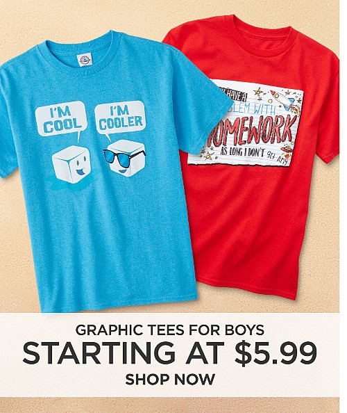 Graphic Tees for Boys starting at $5.99. Shop now