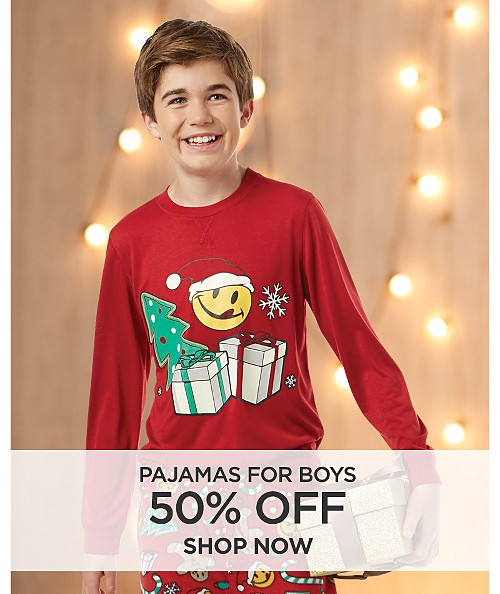 50% Off Pajamas for Boys. Shop now