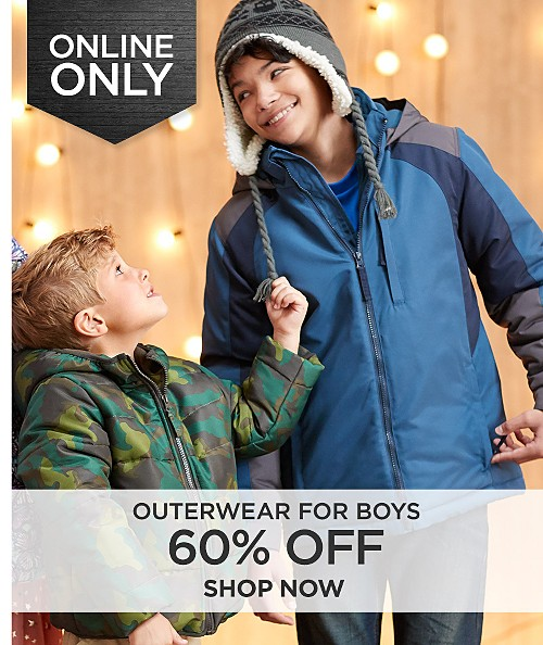 60% off outerwear for boys online only