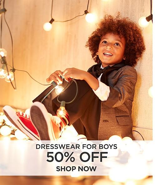 50% off dresswear for boys. Shop now
