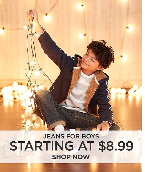 Jeans for boys starting at $8.99. Shop now
