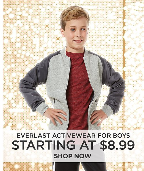 Everlast Activewear for boys starting at $8.99. Shop now