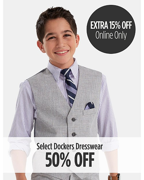 50% Off Select Dockers Dresswear. Extra 15% Off Online Only