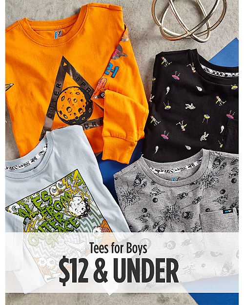 Tees for Boys $12 & Under