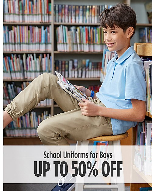 Up to 50% Off School Uniforms for Boys