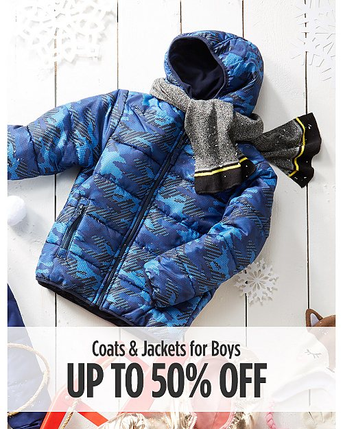 Up to 50% off Coats & Jackets for boys