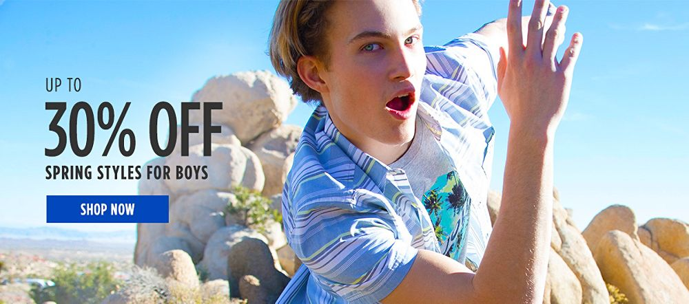 Up to 30% off Spring Styles for Boys. Shop now