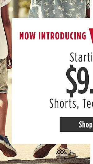 Now Introducing Levi's for Boys. Shorts, Tees & Jeans starting at $9.99