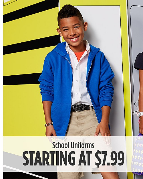 School Uniforms Starting at $7.99
